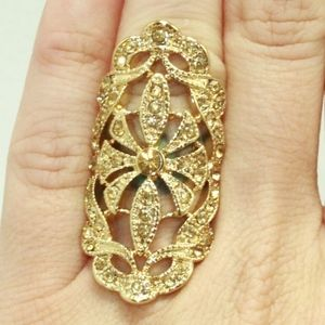 Lydell NYC Statement Ring Size 6 Yellow Gold Plate